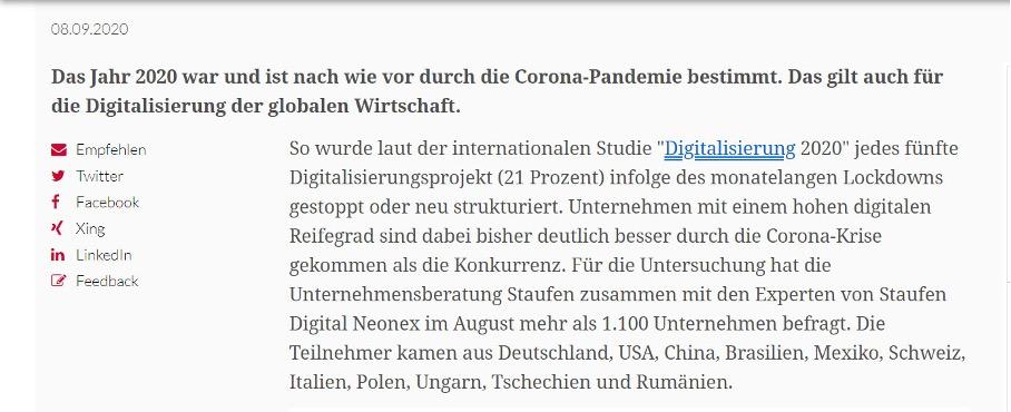 Digitalisierung 2020 - Corona Studie Hochwertiger Backlink