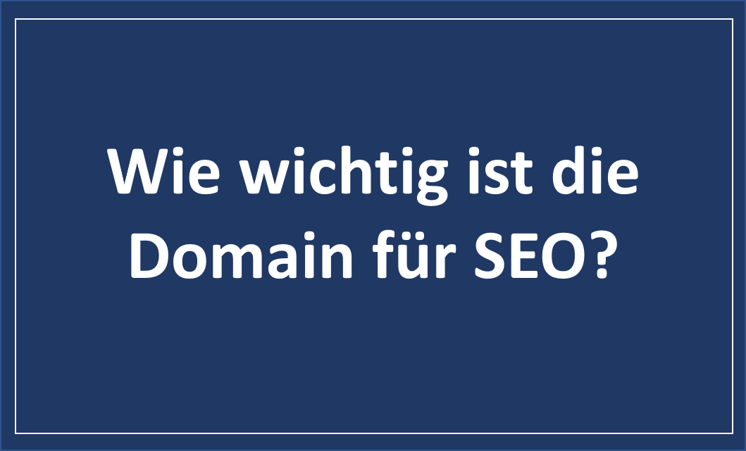 Domain und SEO