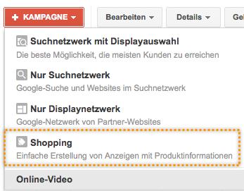 Dashboard Google Merchant Center