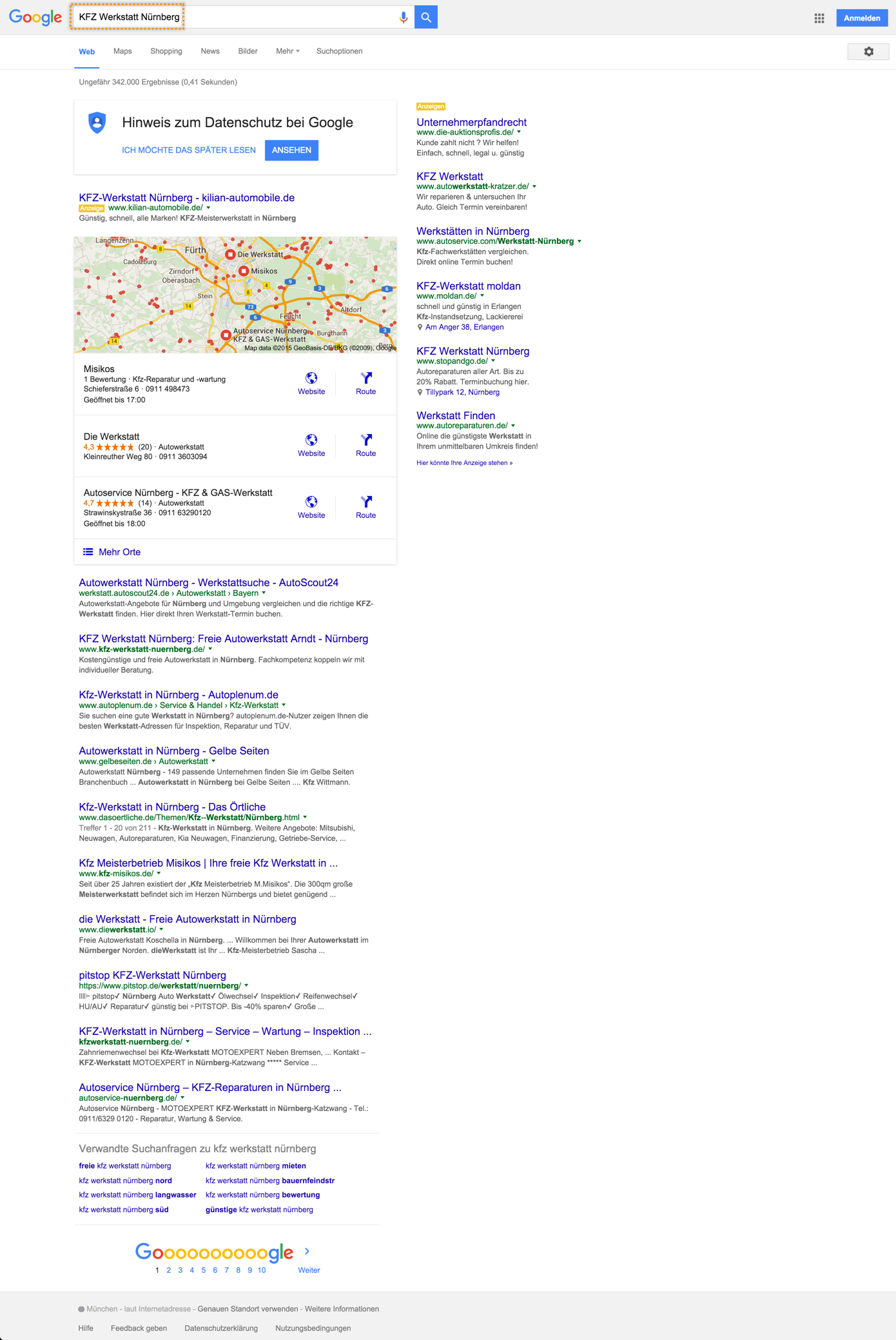 kfz-werkstatt-nuernberg-lokale-suchergebnisseite
