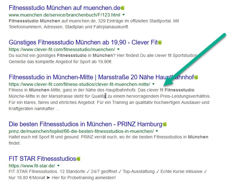 Meta Description Länge