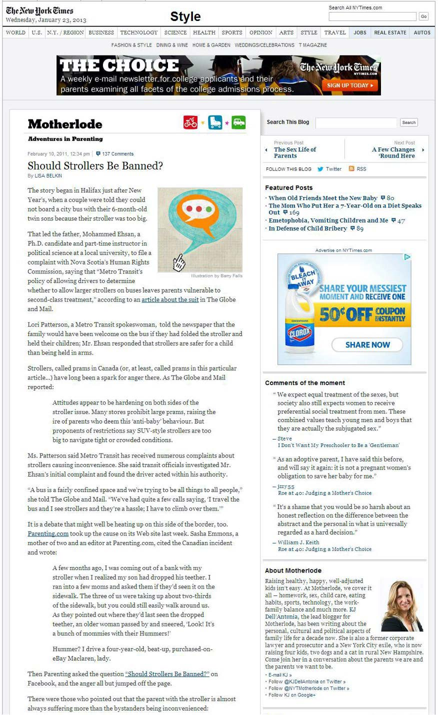 NY-Times Artikel Google EAT Beispiel