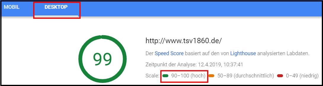 Pagespeed Optimierung Analyse