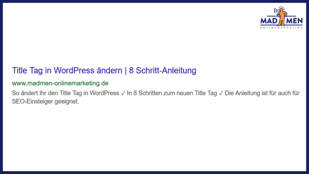 Title Tag in WordPress ändern
