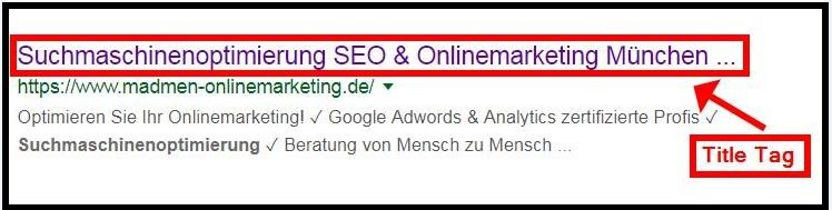 Title Tag Optimierung